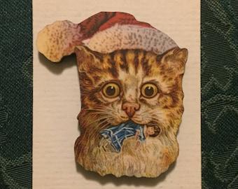 Santa Cat 1 Christmas Needleminder