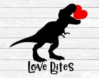 Dinosaur Heart Svg Etsy