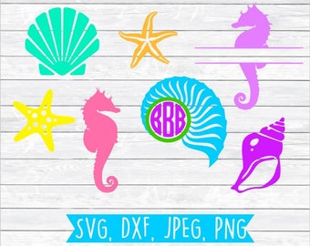 Summertime Svg, Summer time Svg, Summer Sun Svg, Summer Svg cut file, Beach Monogram Summer Beach SVG DXF PNG files for, Silhouette, Cricut