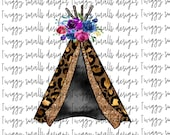 Boho Sublimation Design Downloads, Hand Drawn Tee Pee, Tribe, Tribal, Clipart, Digital Download, Printable, Sublimation Files, PNG, Graphics