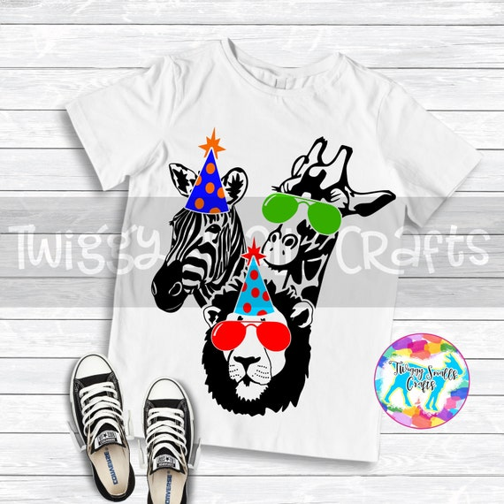 Party Animal Svg Lion Zebra Giraffe Svg Dxf Png Files Etsy