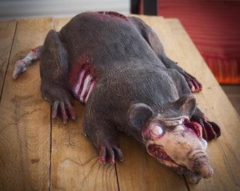Latex Zombie Rat Prop