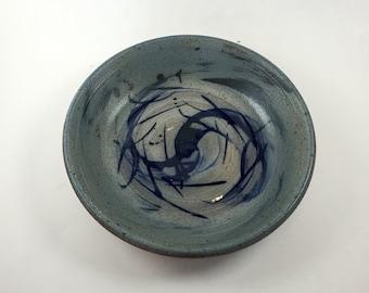 Blue Spiral Bowl 4