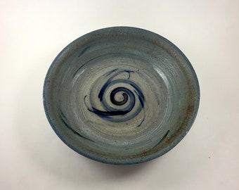 Blue Spiral Bowl 1