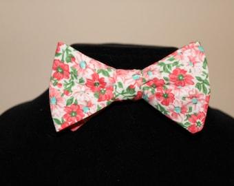 Handmade Custom Mens Floral Bow Tie