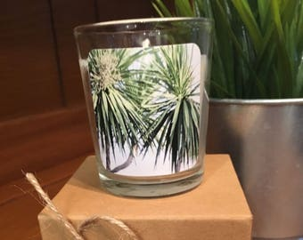"""No. 23 """"Getaway"""" Votive Candle: Handpoured, Handmade Soy Candle With Custom Photograph By Brian McCullah (Mountain Rain Scent)"""