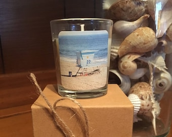 """No. 3 """"Dream On"""" Votive Candle: Handpoured, Handmade Soy Candle With Custom Photograph By Brian McCullah (Pineapple Vanilla Scent)"""