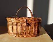 Rattan bag with leather handle, rattan bag, wicker bag, straw bag, tory burch, straw purse with handle, summer handbag, rattan handbag, tmp