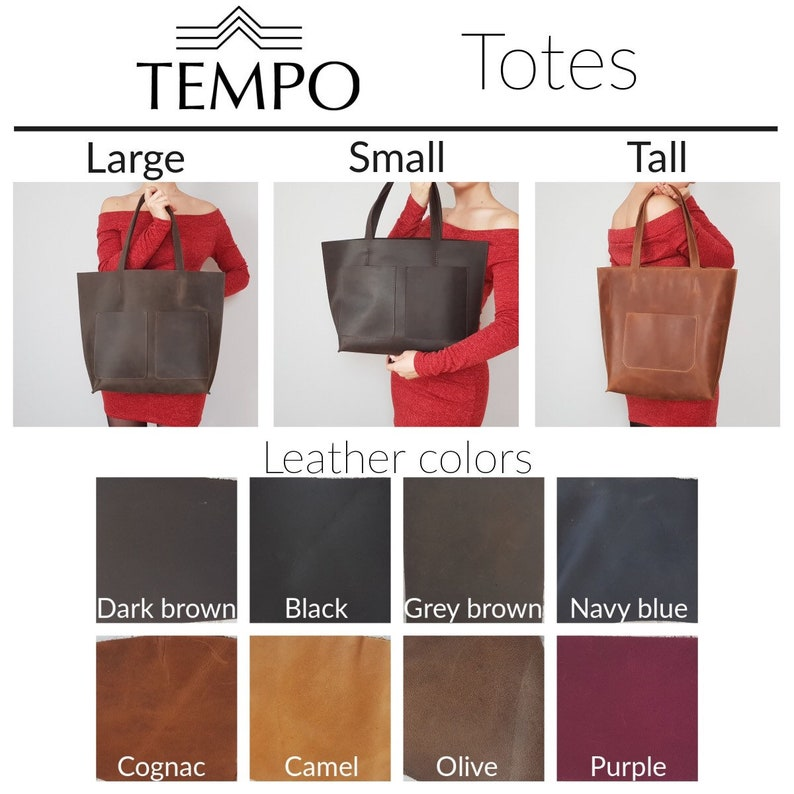 Leather Tote Bag HUGE SALE Anniversary gift Laptop work /& Student bag Tote with zipper Monogrammed tote Large Leather Tote