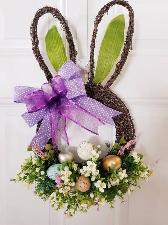 Grapevine Wreath Bunny Shape Grapevine Wreath Wreath With Etsy