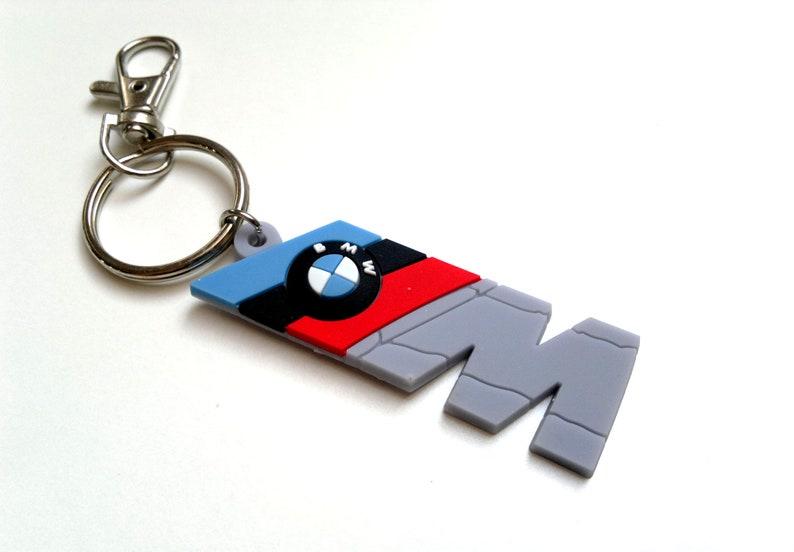 Bmw M Power M3 M5 Badge Key Ring Rubber Keychain Emblem E39 Etsy