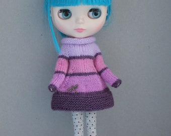 Knitted dress for Blythe