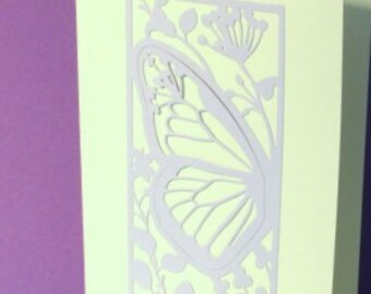 Butterfly Half panel Greetings card