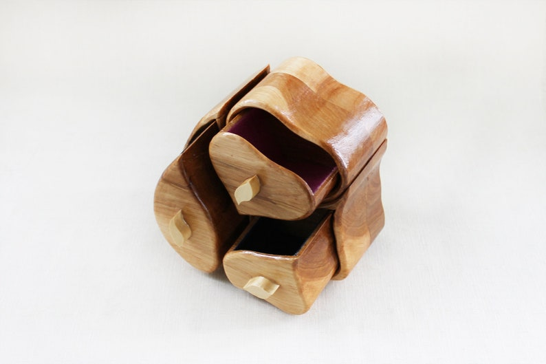 Patrick/'s day gift for wife Wood jewelry box for girl Wood Heart Jewelry box Heart gift box for jewelry