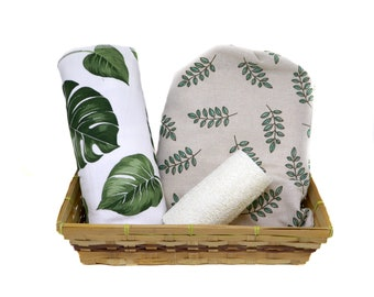 Sustainable kitchen gift box with unpaper towels - Zero waste mothers day gifts set - Eco-friendely Mystery box for mom -  Medium kit