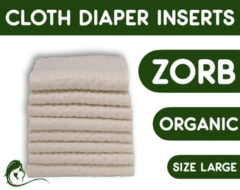 Zorb cloth diaper inserts - Bamboo adult diapers - Adult Cloth Diaper - Zero waste - Large - 1 Piece