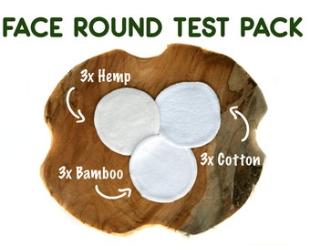 Reusable Organic Bamboo Hemp Cotton Rounds - Washable Makeup remover pads - Eco Friendly Facial Cloth Wipes -Zero Waste Face Scrubbies