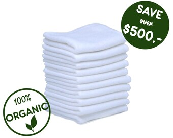 Zero Waste Unpaper towels - Reusable bamboo baby wipes - Cloth diapers - Organic cloth toilet paper - New mom gift