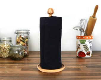 Unpaper Paperless kitchen towels - 2 Ply Zero waste housewarming gift for mom - Reusable paper towel roll - Cloth napkins - Minimalist Decor
