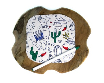 Reusable baby wipes - Baby shower game idea - Eco friendly gift - Zero waste - Llama
