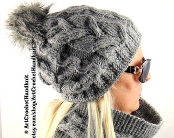 Machine Washable And Hand Knitted Hat And Scarf Set Products Are Sold Without Limitations