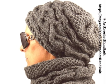 03f6155676919d fisherman donegal fleck beanie scarf set seagreen; hat scarf set winter  knit hat scarf set chunky hat and scarf set soft wool hat