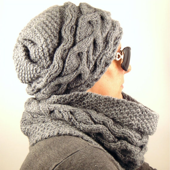 Womens Winter Hat And Scarf Set Wool Hat Scarf Set Knit Hat Etsy