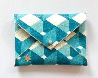 Faux leather wallet clutch