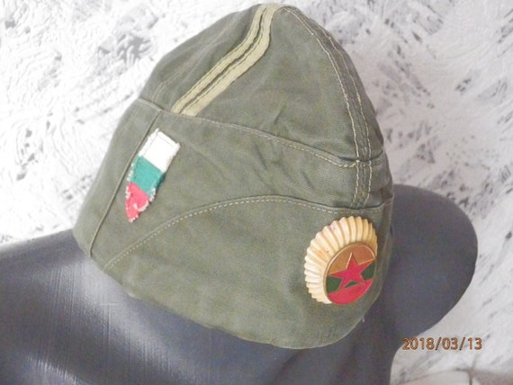 Vintage Military Hat Military Cap Army Hat Bulgarian Military  36258381964