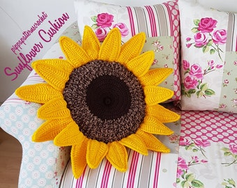 Crochet Sunflower Etsy