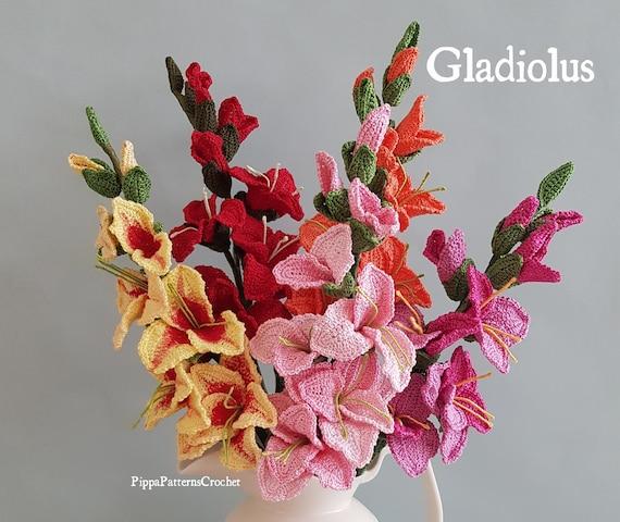 Crochet Gladiolus Pattern Crochet Gladiolus Flower Pattern Etsy