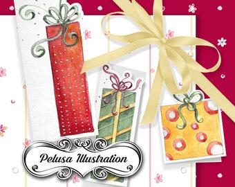 Gift Cards & Digital Paper Pack 1 - Pelusa Illustration -