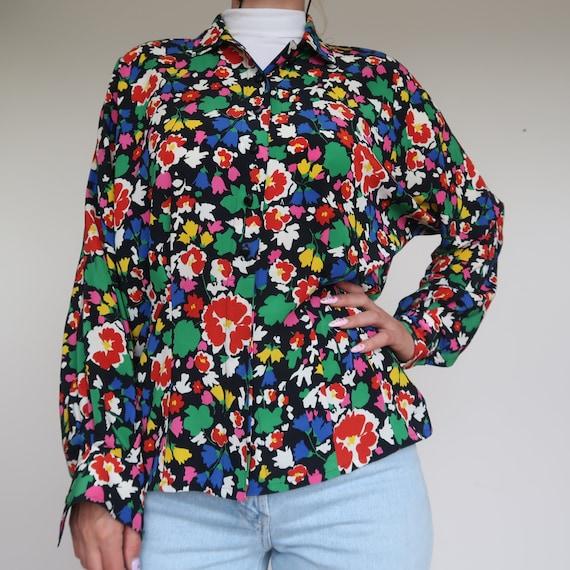 Vintage Collar White//Yellow Lemons print long sleeve shirt Blouse for Unisex