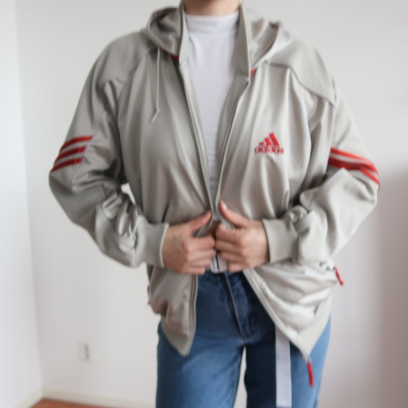Vintageretro adidas track jacket. Green black and Depop