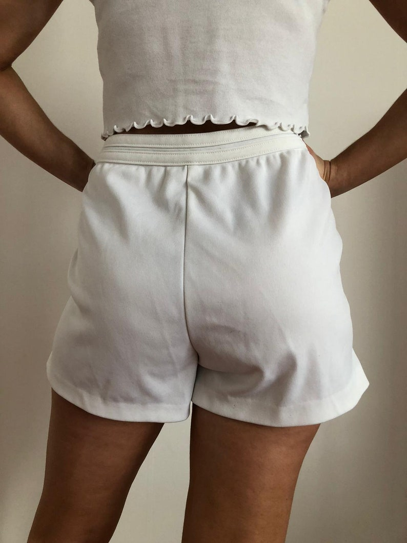 SERGIO TACCHINI tennis shorts white logo Sports white loose Sportwear Track Cute US Size M L preppy sporty 90s made in italy high waisted