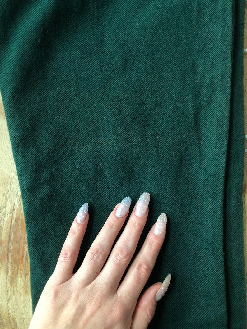 Dark green jeans High waisted dead stock pants skinny vintage high waist retro green Made in England
