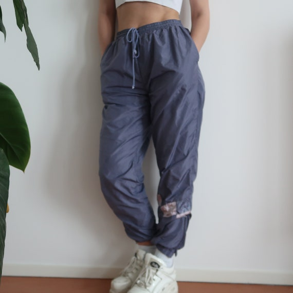 90s high waisted zipper drawstring track pants pan