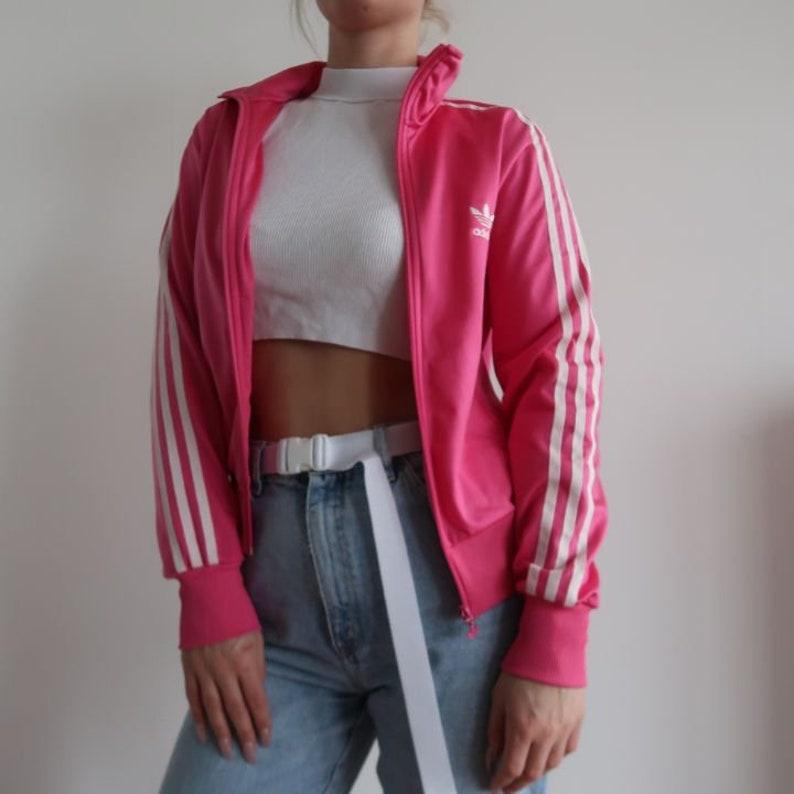 ADIDAS cardigan sports jacket windbreaker tracksuit 00s 90s Track Jacket mens Sportswear M vintage oversized lined embroidered 3 stripes