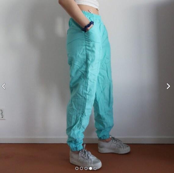 Vintage blue lightweight tracksuit trousers kawaii