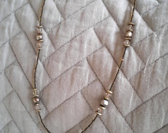Beaded Gold Chain with Pendant