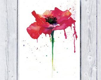 Tracey Pinnington, Remembrance, giclee print,, Poppy,  Poppy Print, Poppies, flower art, home decor, wall art, print, botanical art, floral