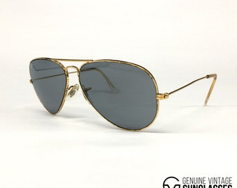 b8800b05ad Ray Ban Chromax Gold 10K vintage sunglasses USA 80s Medium