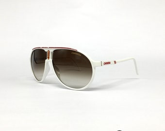 53c9d25a60 CARRERA Champion White sunglasses Italy Medium 80 s look Used