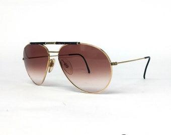 816730002117c NOS Boeing   Carrera 5706 Gold vintage sunglasses 80 s Austria Large
