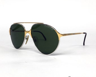 b54cfbce42 NOS Carrera   Boeing 5710 Silver Gold Vintage Sunglasses Austria 80 s Large