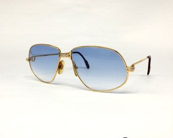 ea5314c24aa8f Cartier Panthere D.M. vintage sunglasses Gold made in France 80 s Medium