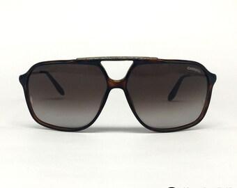 8ff8856431b Carrera 82 vintage sunglasses - Dark Havana Grey Gradient - Italy 90 s Large
