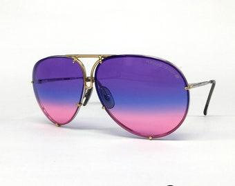 NOS Porsche Design de lunettes de soleil Carrera 5623 brume bleue grande  Autriche des années 80 1096b2081b2d