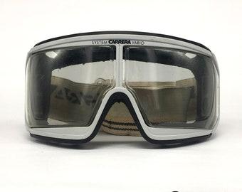 9fee242b5dd CARRERA vintage Ski Goggles VARIO SYSTEM - Super rare 80 s Austria Full Set