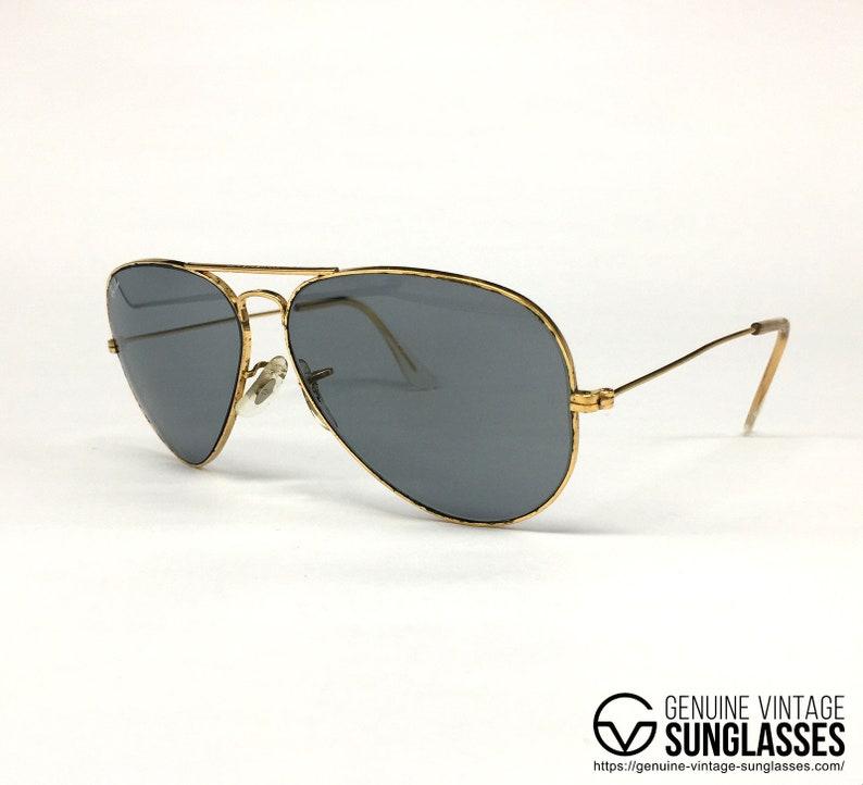 5388fbaffb Ray Ban Chromax Gold 10K vintage sunglasses USA 80s Medium